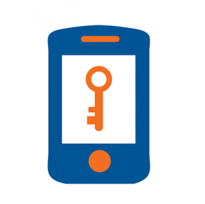 Mobile phone showing two factor authentication