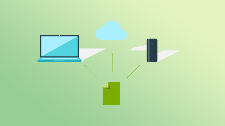 Computer backup graphic