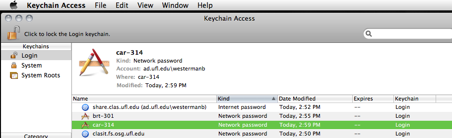 Changing the Network Password in your Keychain – Help and
