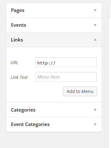 how to add a cv link to the menu help and how to clas it